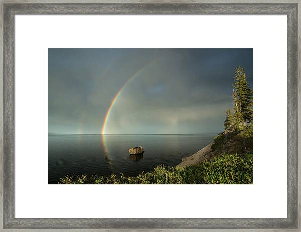 Calm Before The Storm Framed Print by Sandy Sisti
