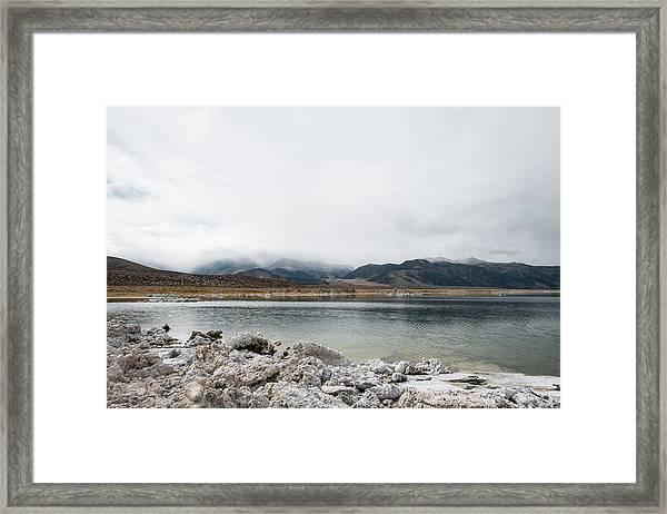 Calm Lake Against Mountain Range Framed Print by Christian Soldatke / EyeEm