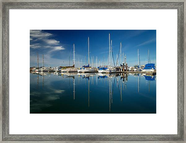 Calm Masts Framed Print