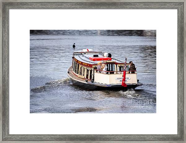 Calm River Evening Framed Print