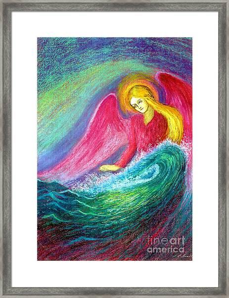 Calming Angel Framed Print