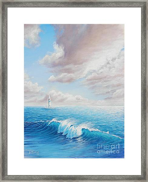 Calming Ocean Framed Print