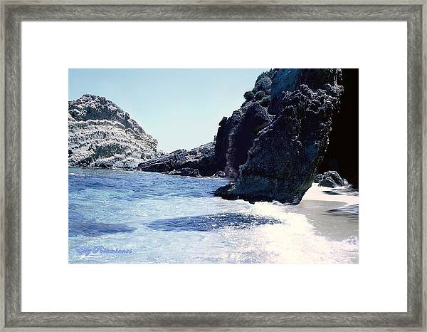 Calming Waves Framed Print