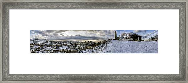 Calton Hill Panorama Framed Print