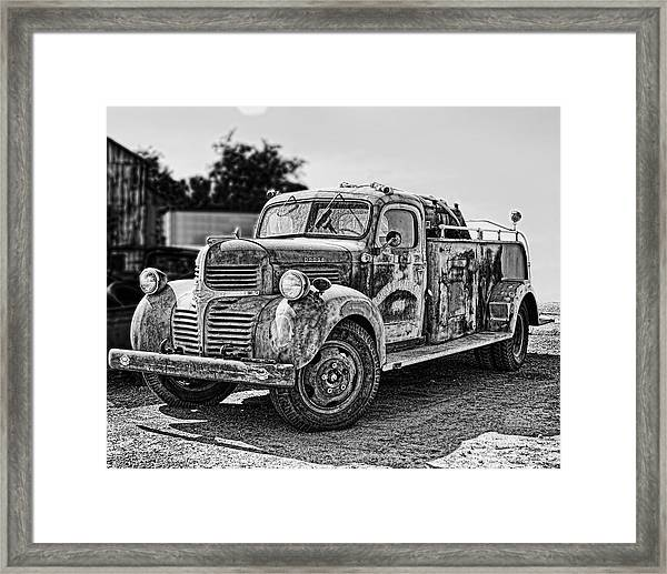 Framed Print featuring the photograph Calusa Rural Fire Truck No2 by William Havle