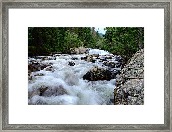 Lower Copeland Falls In The Spring Framed Print