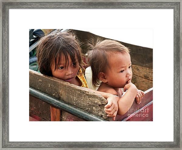 Cambodian Children 03 Framed Print