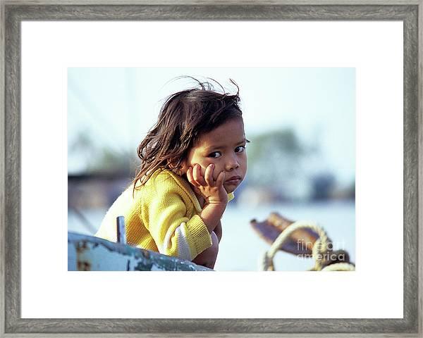 Cambodian Girl 01 Framed Print