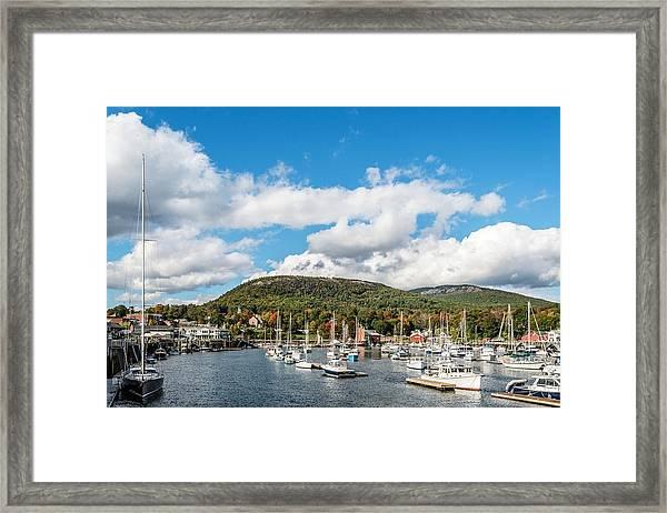 Camden Harbor Framed Print