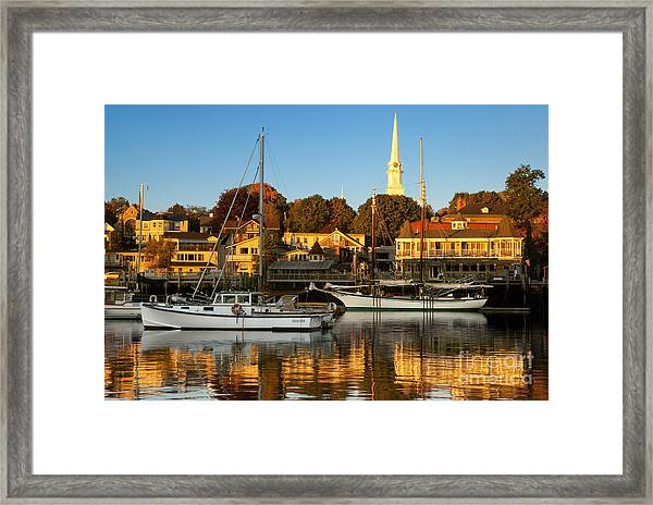 Framed Print featuring the photograph Camden Maine by Brian Jannsen