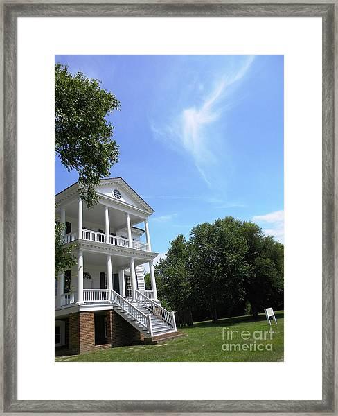 Angel Over Camden House Framed Print