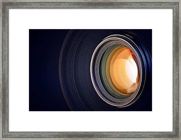 Camera Lens Background Framed Print