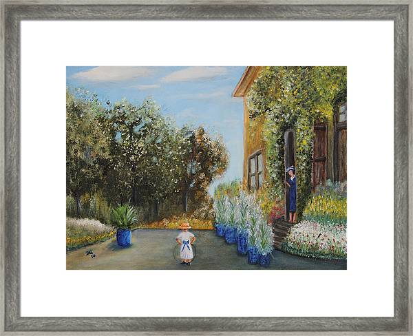 Camille And Jean Monet Framed Print