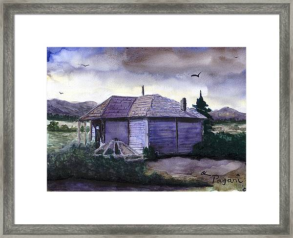 Camp Creek School Watercolor Framed Print