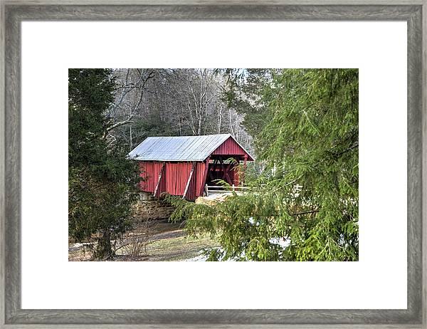 Campbell's Covered Bridge-1 Framed Print