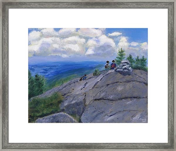 Campers On Mount Percival Framed Print