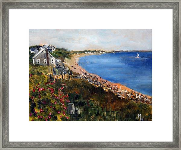 Campground Beach Eastham Framed Print