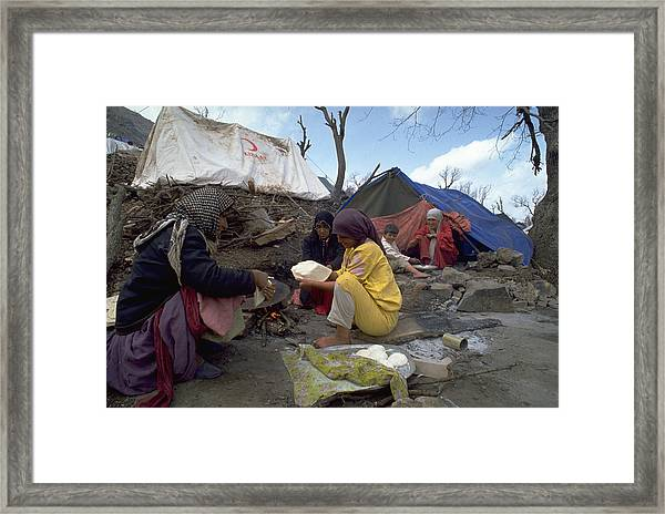 Camping In Iraq Framed Print