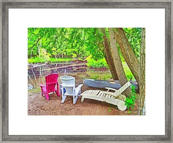Camping On The Crystal River Framed Print