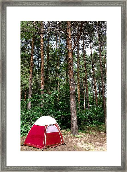 Campsite Near Holland State Park Framed Print