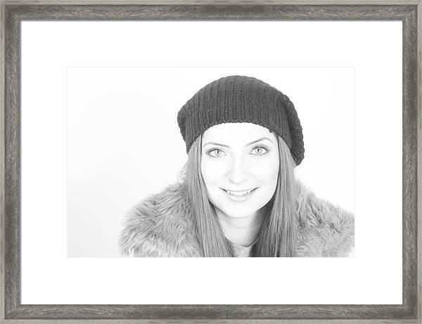 Can Eyes Also Smile Framed Print