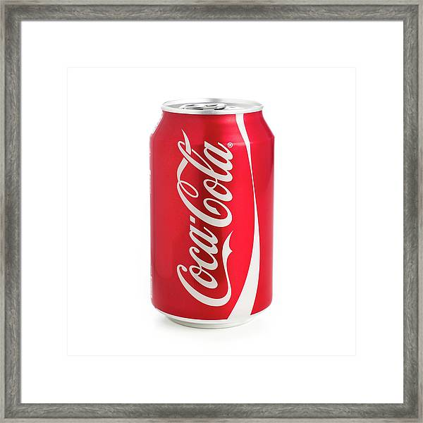 Can Of Coca Cola Framed Print by Science Photo Library