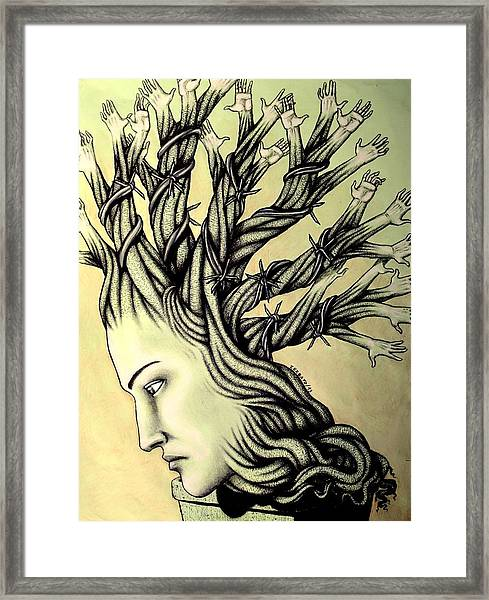 Can Shaping Me But The Essence Never Changes Framed Print
