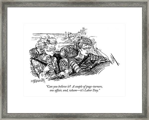 Can You Believe It?  A Couple Of Page-turners Framed Print