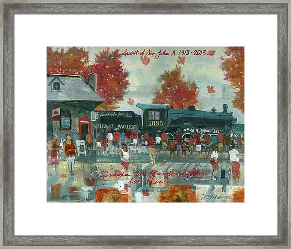 Canada Day 2013 Framed Print