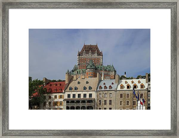 Canada, Quebec City, Chateau Frontenac Framed Print by Buena Vista Images