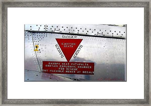 Canadair Ct-114 Tutor Danger  Ejection Seats Framed Print
