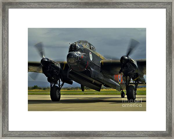 Canadian Avro Lancaster Bomber Framed Print