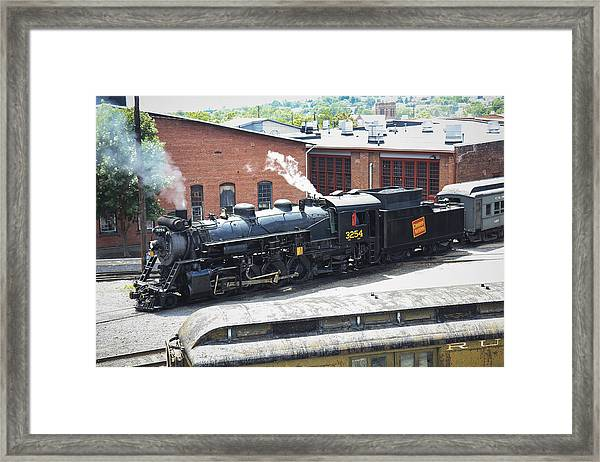 Canadian National Steam Locomotive Framed Print