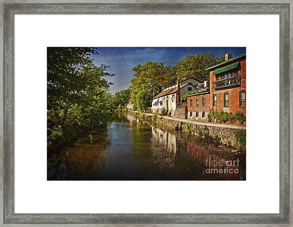 Canal Along The Porkyard Framed Print