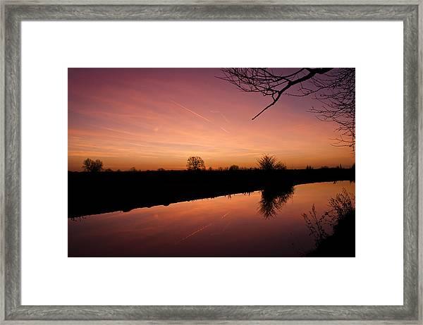 Canal At Dawn Framed Print