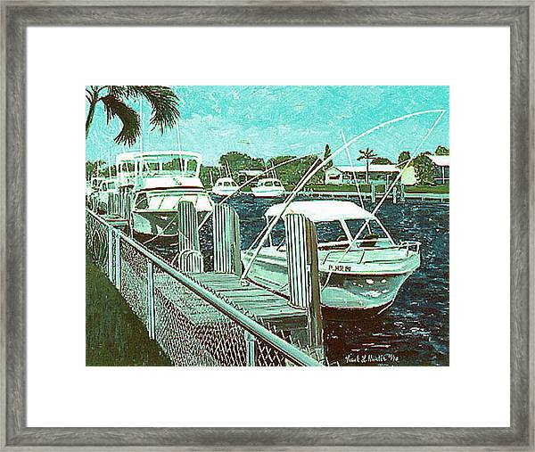 Canal At Pompano Framed Print