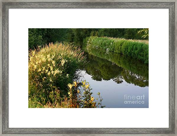 Canal Reflections Framed Print