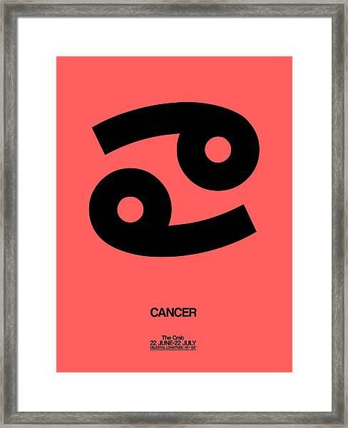 Cancer Zodiac Sign Black Framed Print