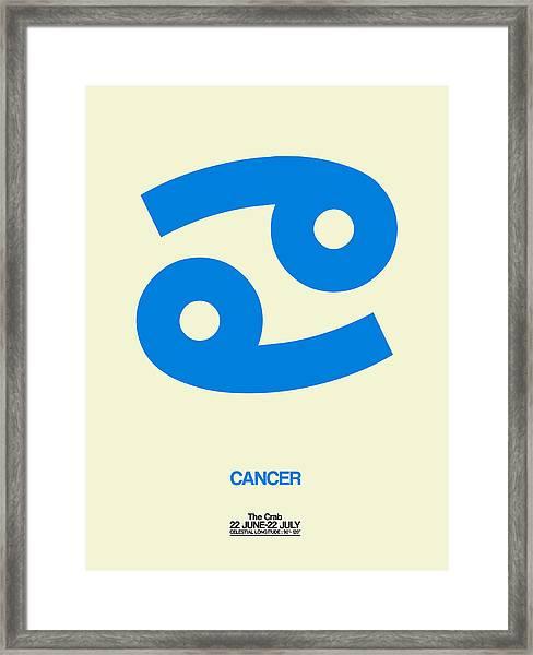 Cancer Zodiac Sign Blue Framed Print