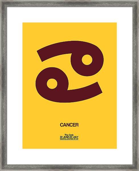 Cancer Zodiac Sign Brown Framed Print