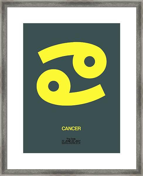 Cancer Zodiac Sign Yellow Framed Print