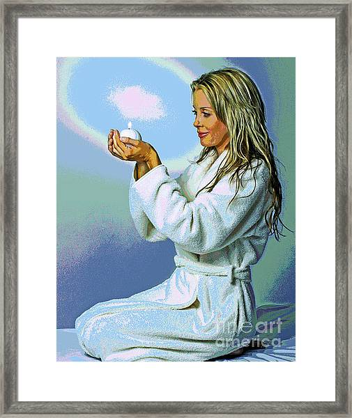 Candle Tranquility Framed Print