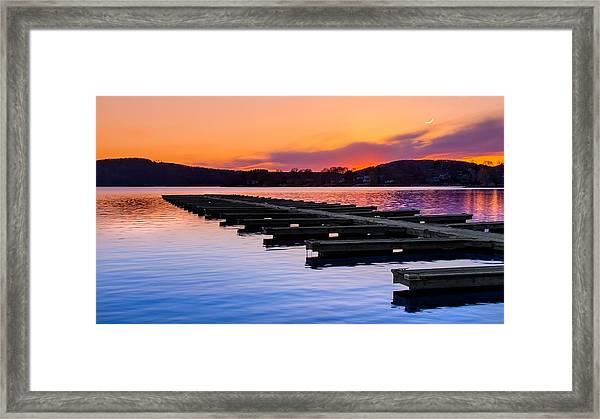 Candlewood Lake Framed Print