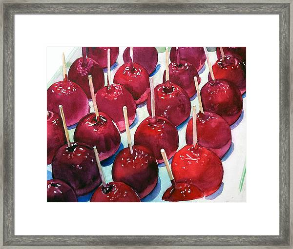 Candy Apples Framed Print