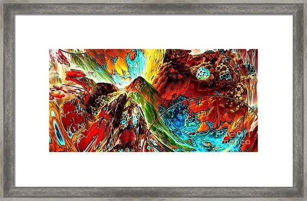 Candy Moutain Framed Print by Bernard MICHEL