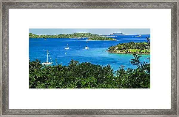 Caneel Bay Framed Print