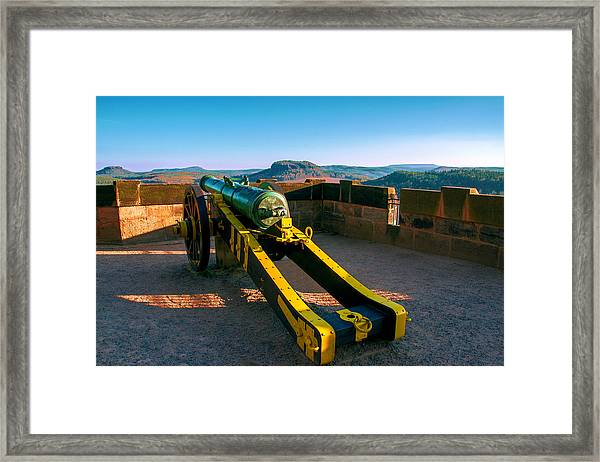 Cannon At The Fortress Koenigstein Framed Print