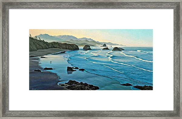 Cannon Beachcombers Framed Print
