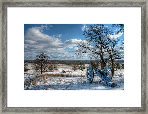 Cannon Overlooking Valley Forge National Historic Park Framed Print