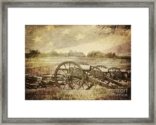 Cannons At Pea Ridge Framed Print